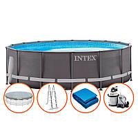 Intex 26324 - каркасный бассейн Ultra Frame 488x122 см, фото 1