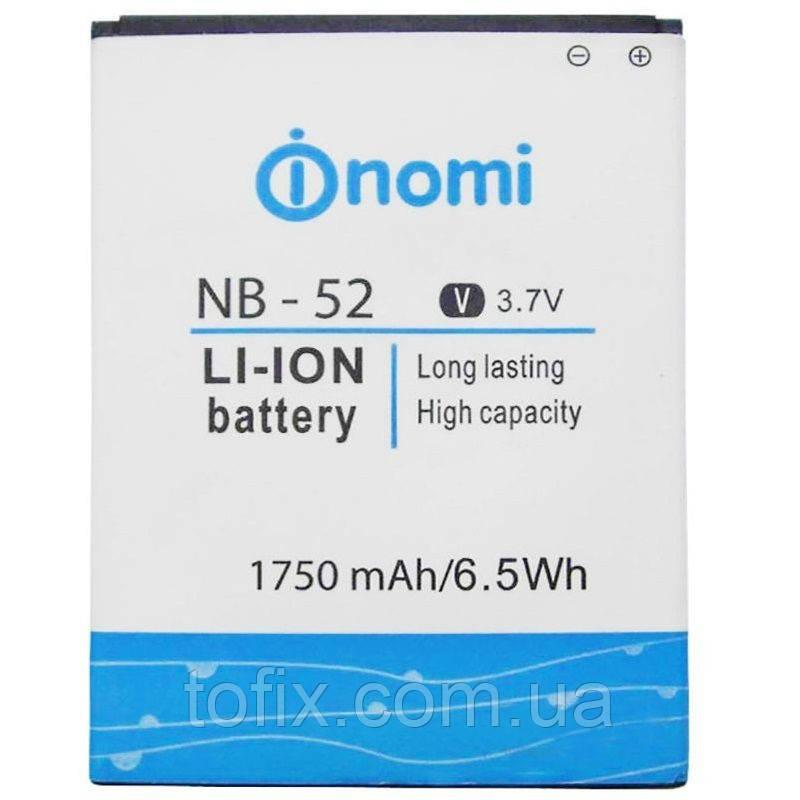 Батарея (акб, аккумулятор) NB-52 для Nomi i501, 1750 mAh, оригинал