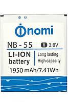 Аккумулятор (АКБ, батарея) NB-55 для Nomi i505 Jat Space, 1950 mAh, оригинал
