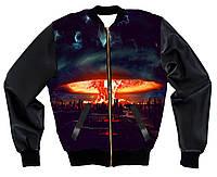 Куртка-бомбер с 3D принтом , фото 1