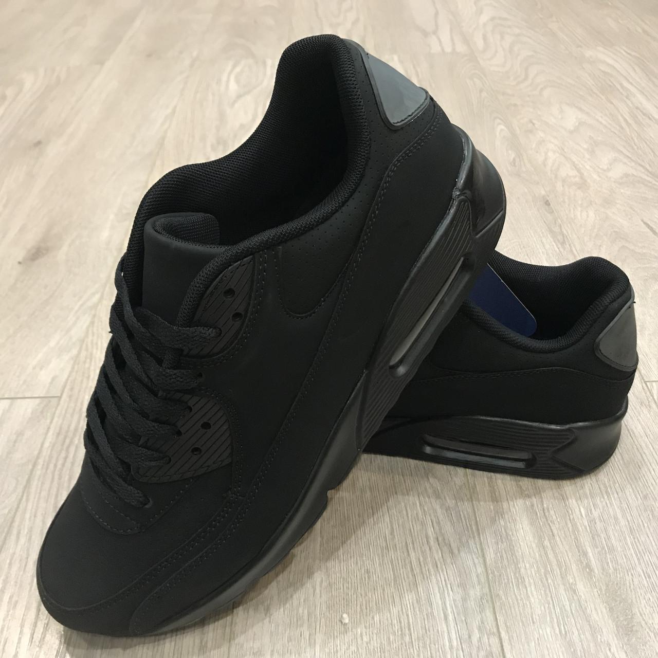 Мужские кроссовки черные легкие