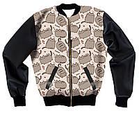 Куртка-бомбер с 3D принтом Котики, фото 1