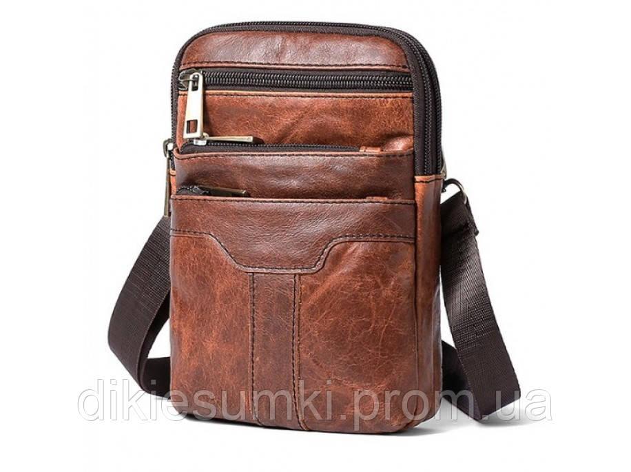 250c9be1f327 Мужская кожаная сумка на плечо небольшого размера Bexhiii BX8236С в ...