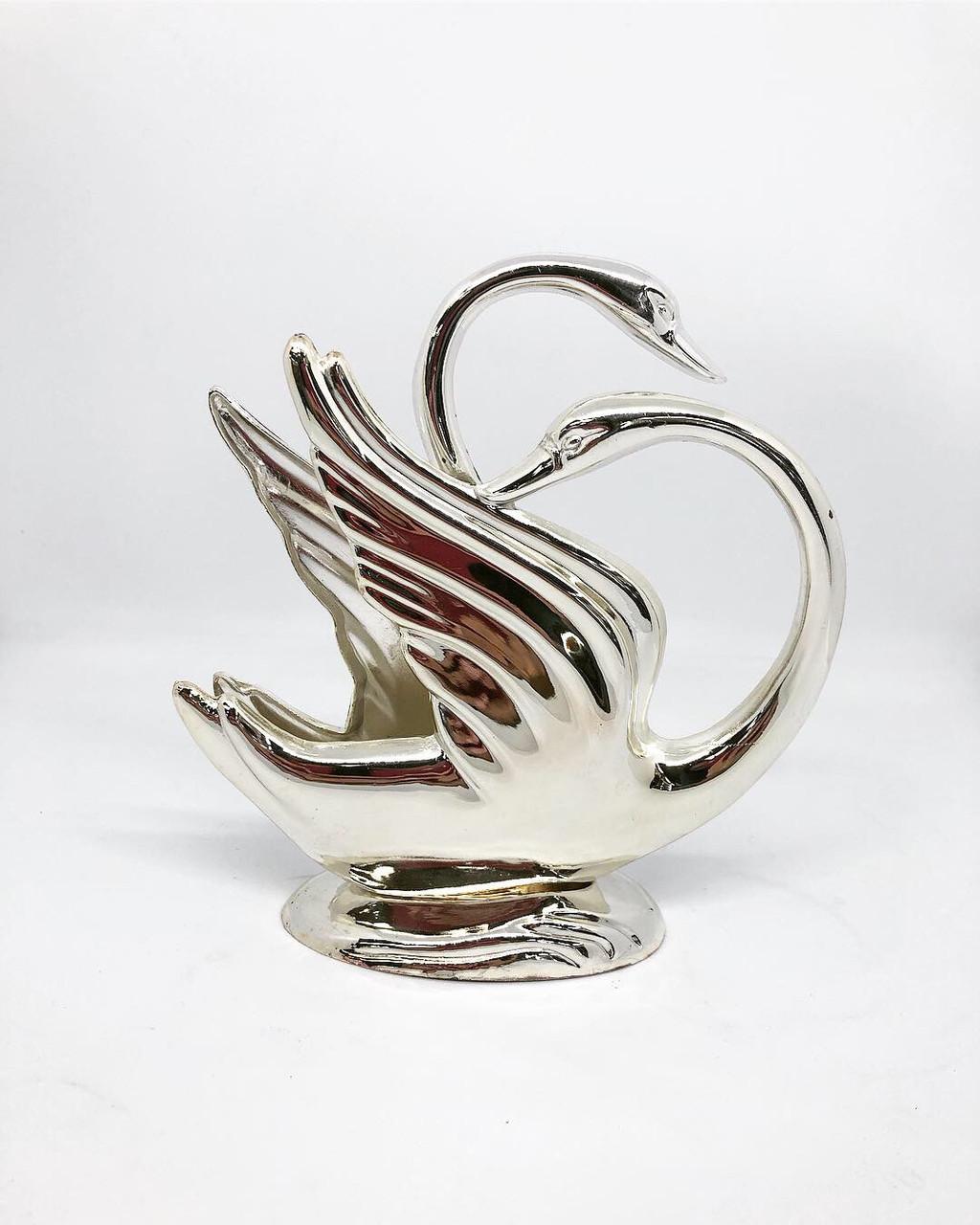 Салфетница посеребренная MCA Vizyon в форме лебедя