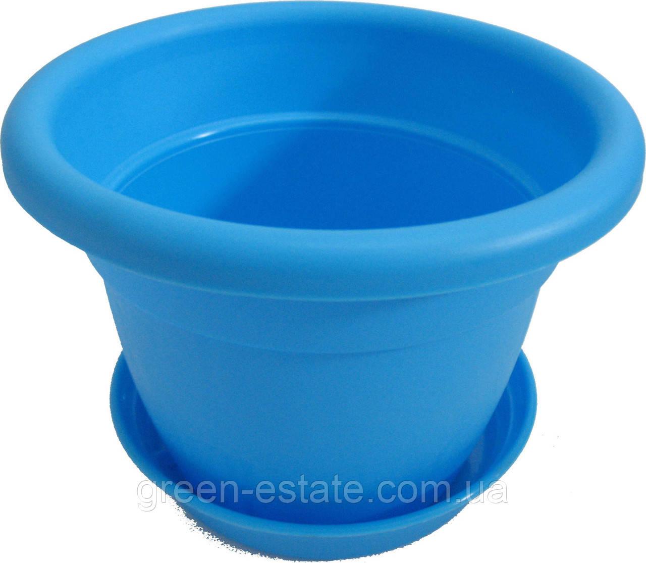 Вазон Антик 18 2,85 л синій