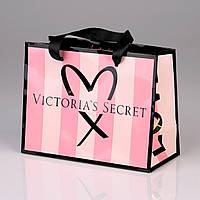 Подарочный пакет маленький Victoria's Secret р.S (19.5см.х16см.х9см), фото 1
