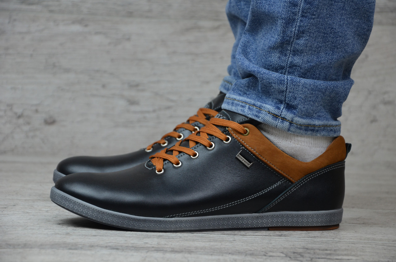b223ca2b Мужские весенние кроссовки Ecco натуральная кожа, (реплика): продажа ...