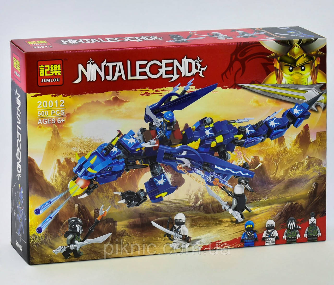 Конструктор Ninja Legend Вестник бури, 500 деталей. Детский набор для мальчиков