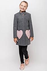 Весеннее кашемировое пальто на девочку