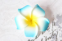 Цветы плюмерии 6 см диаметр голубого цвета, фото 1