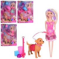 Кукла Барби с собачкой, набор для уборки за собачкой, аксессуары.