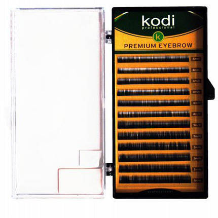 Брови Natural Curl (натуральный завиток) Kodi Professional 0.12 (12 рядов: 4-8) черные, фото 2
