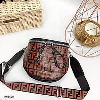 Женская сумка копия Фенди Fendi качественная эко-кожа дорогой Китай коричневая