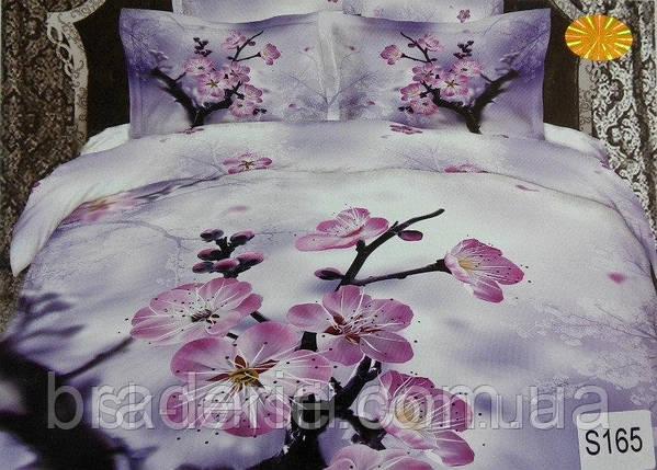 Сатиновое постельное белье евро 3D Люкс Elway S165, фото 2