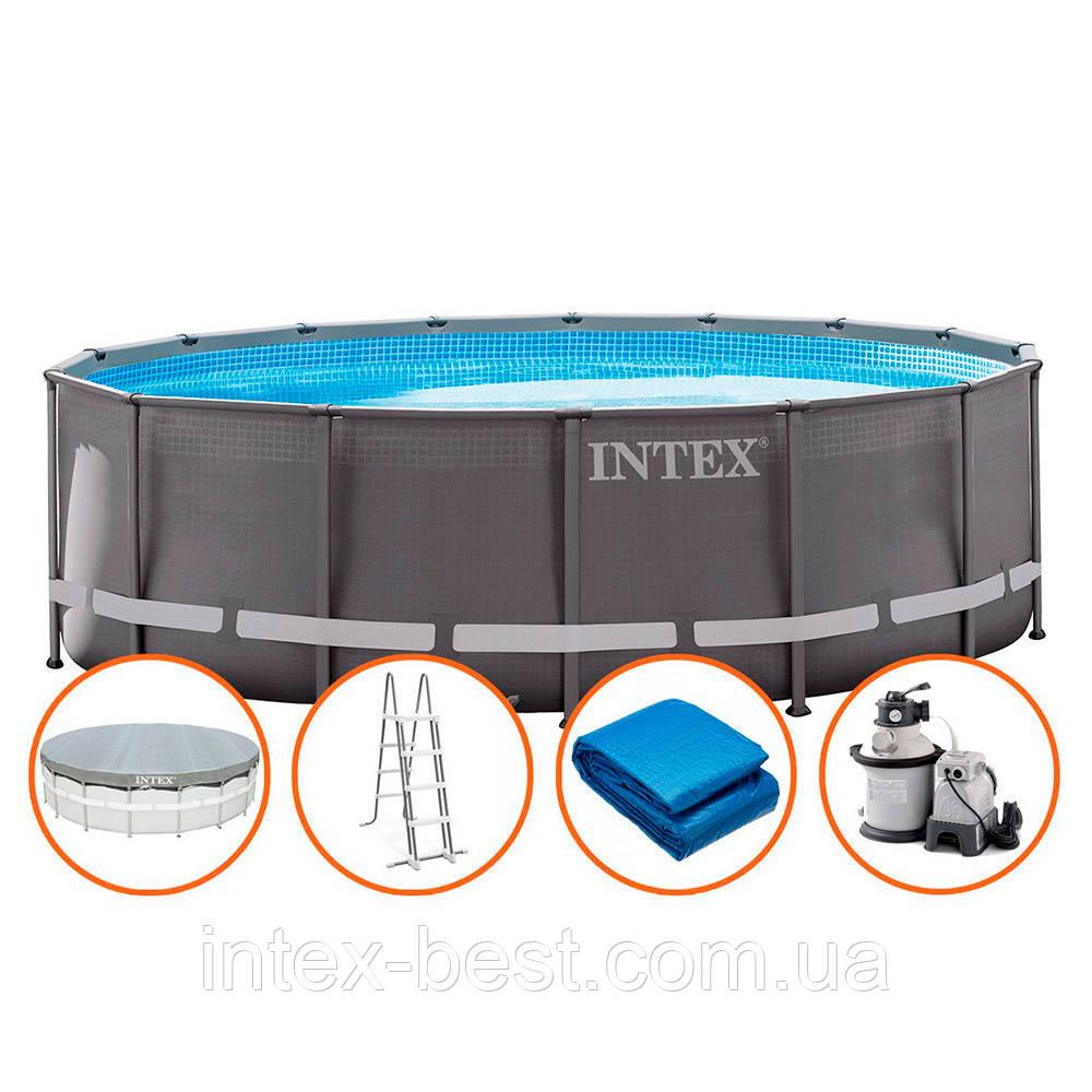 Intex 26324 - каркасный бассейн Ultra Frame 488x122 см