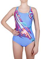 Купальник спортивный женский для плавания  Rivage Line  8716, голубой