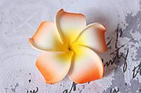 Цветы плюмерии 6 см диаметр оранжевого цвета, фото 1