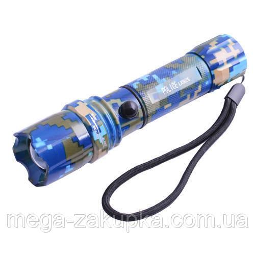 Тактический фонарик Police, zoom и три режима света