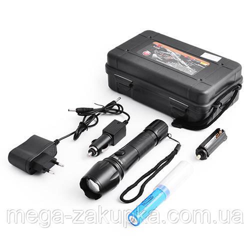 Тактический  фонарик Police 8670, противоударный и влагозащищенный