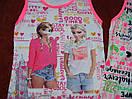 Майки для девочек модные. Анна и Эльза, фото 2