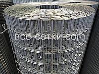 Сварная оцинкованная сетка для клеток. Ячейка: 50х25мм., Ø 1,6мм, Ширина: 1м.