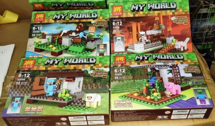 Конструктор Lele 33000 Майнкрафт Minecraft строение и фигурка, 4 вида, 98 деталей