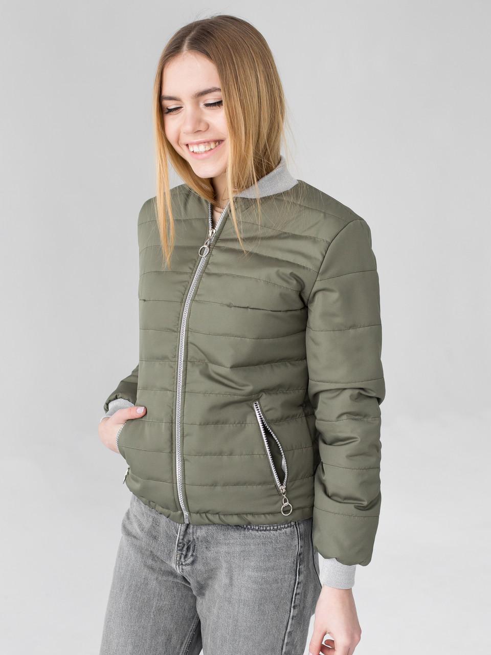 Куртка Мира 0467_3 тёмно-зелёный