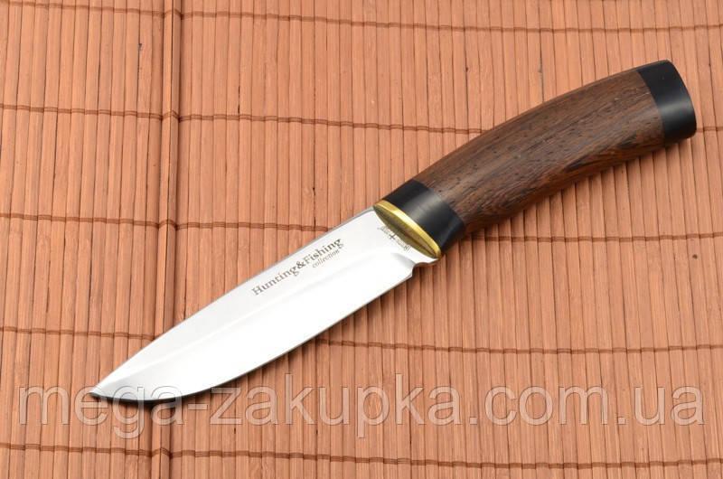 Нож охотничий  рукоять Венге, кожаный чехол в комплекте