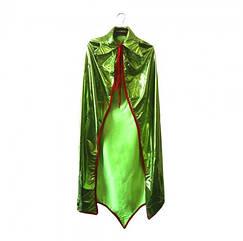 Карнавальный плащ Короля (блестящий) Зеленый