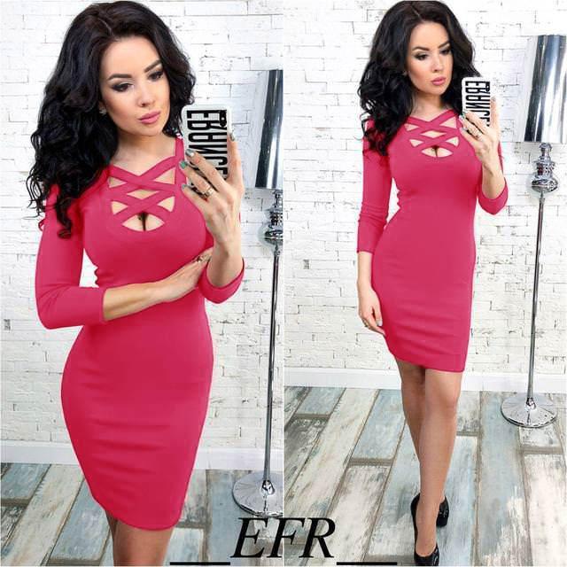 Короткое облегающее платье