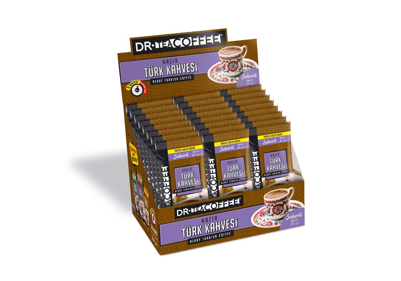 Турецкий кофе молотый DrCoffee в стиках 2 в 1, 24х7 г