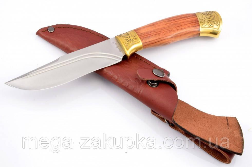 Нож охотничий Зевс с кожаным чехлом + эксклюзивные фото