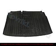 Полиуретановый коврик в багажник Fiat Doblo (7 мест, короткая база), Avto-Gumm