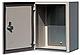 Бокс монтажный герметичный 700-500-250 IP54 уличный металлический навесной с монтажной панелью, 2 замка, фото 8