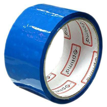 Лента клейкая упаковочная Optima синяя 48*30