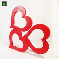 3 Сердца из пенопласта -50 см