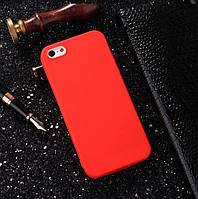 Чехлы для iPhone 5 5s SE Uslion Матовый силикон Красный