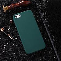 Чехлы для iPhone 5 5s SE Uslion Матовый силикон Зеленый