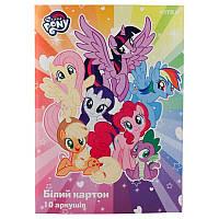 Картон белый односторонний А4 Kite My Little Pony LP19-254, 10 листов, фото 1