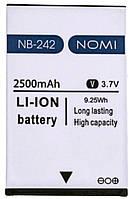 Аккумулятор (АКБ, батарея) NB-242 для Nomi i242, 2500 mAh, оригинал