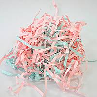 Бумажный наполнитель, розово-голубой