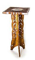 Стол розовое дерево (61,5х28х28 см))(stool 3 leg 15'')