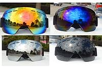 Лыжная маска горнолыжные очки защита от UV лижна окуляры мото вело