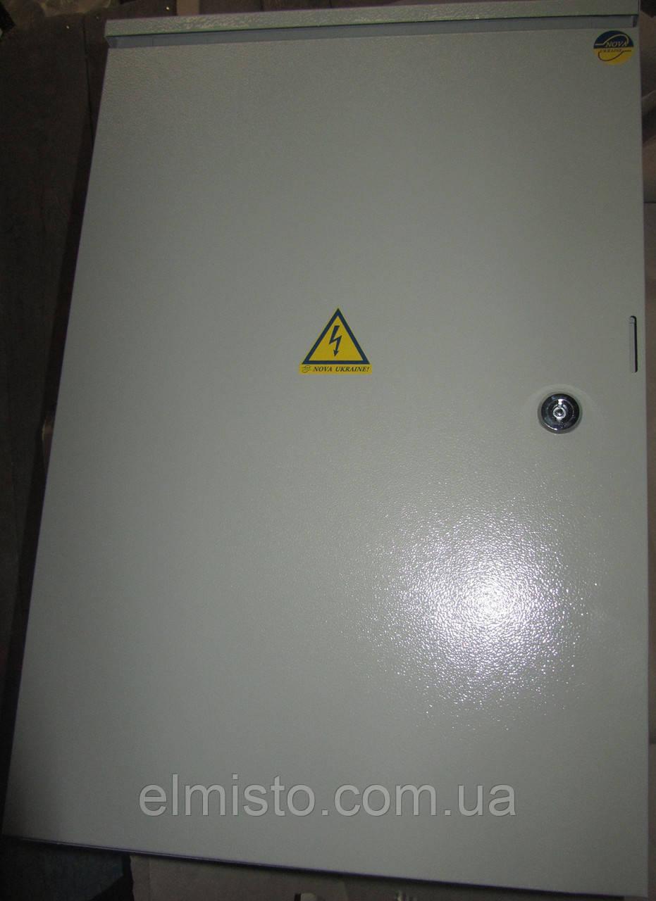 Бокс монтажный герметичный 800-550-250 IP54 уличный металлический навесной с монтажной панелью, 2 замка