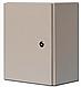 Бокс монтажный герметичный 800-550-250 IP54 уличный металлический навесной с монтажной панелью, 2 замка, фото 6