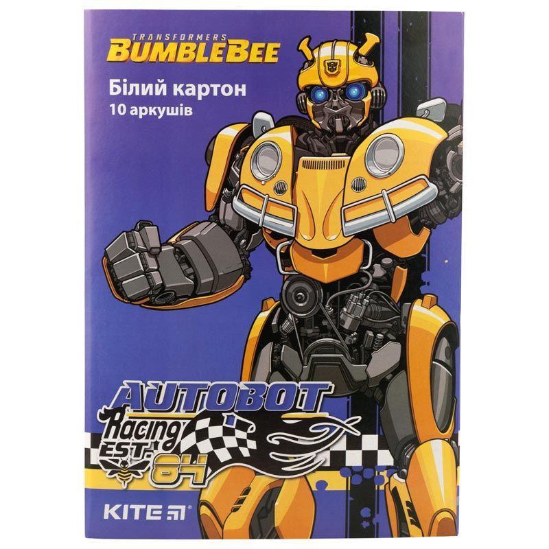 Картон белый односторонний А4 Kite Transformers TF19-254, 10 листов