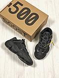 Мужские кроссовки в стиле Adidas Yeezy Boost 500 Utility Black, Адидас Изи буст 500 (Реплика ААА), фото 6