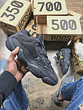 Мужские кроссовки в стиле Adidas Yeezy Boost 500 Utility Black, Адидас Изи буст 500 (Реплика ААА), фото 2
