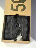 Мужские кроссовки в стиле Adidas Yeezy Boost 500 Utility Black, Адидас Изи буст 500 (Реплика ААА), фото 5