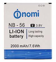 Аккумулятор (АКБ, батарея) NB-56 для Nomi i503 Jump, 2000 mAh, оригинал